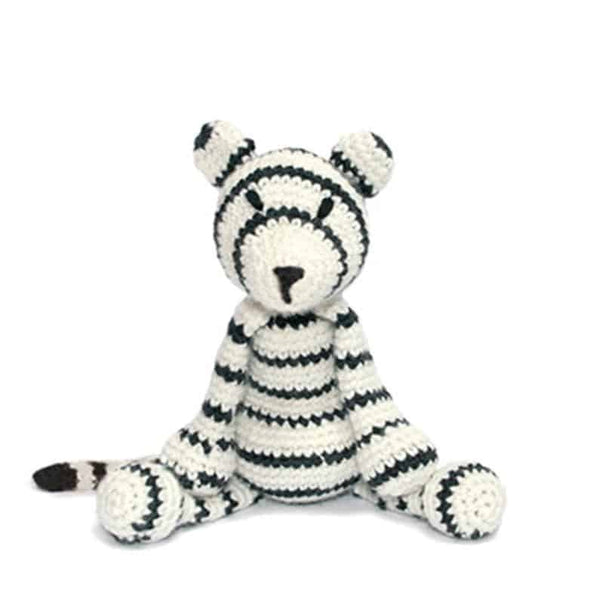 White Tiger handmade toy