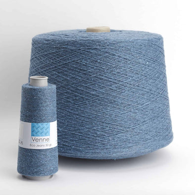 Venne Eco Jeans recycled Nm 12/2 yarn, Yarn, Venne,- Weaving, Thread Collective, Brisbane, Australia