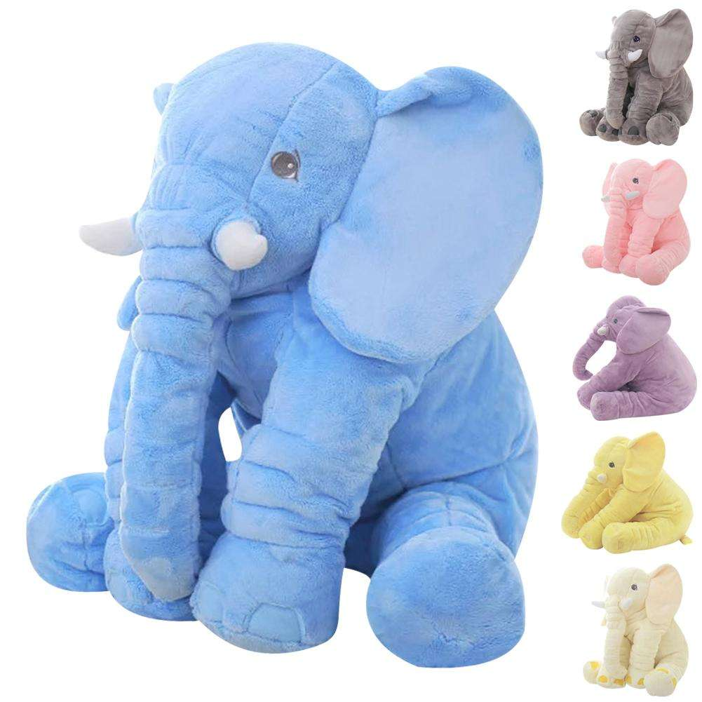 Plush Elephant Baby Pillow
