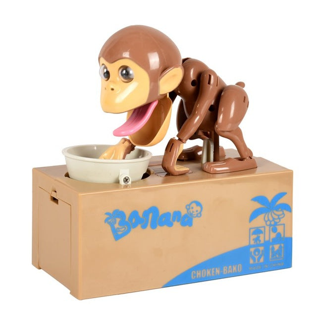 Monkey Eating - Piggy Bank