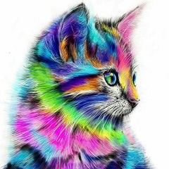 DIY Psychedelic Cute Kitten