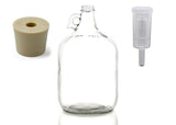 1 Gallon Clear Glass Jug With Stopper and Airlock!