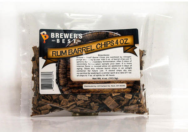 BREWER'S BEST® RUM BARREL CHIPS 4 OZ