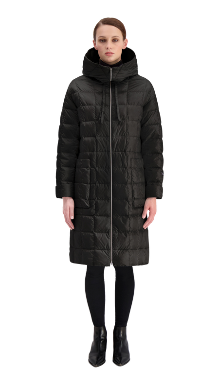 KANERVA LIGHT DOWN COAT 2019 - Joutsen - black