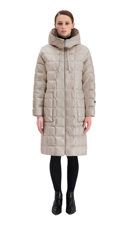 KANERVA LIGHT DOWN COAT 2019 - Joutsen - silver grey