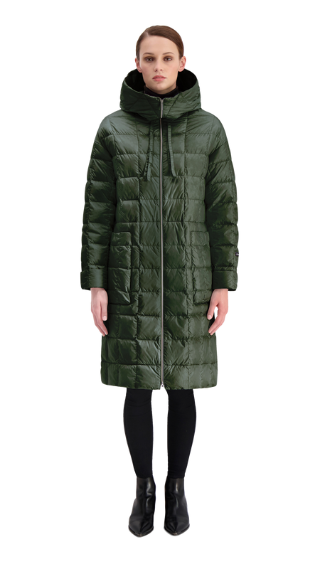 KANERVA LIGHT DOWN COAT 2019 - Joutsen - jungle green