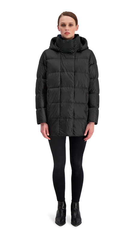ALMA LIGHT DOWN COAT - Joutsen - black
