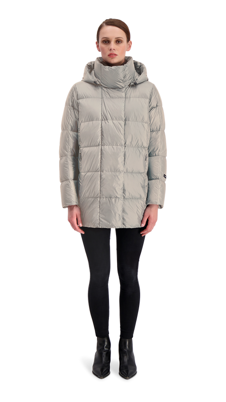 ALMA LIGHT DOWN COAT - Joutsen - silver grey