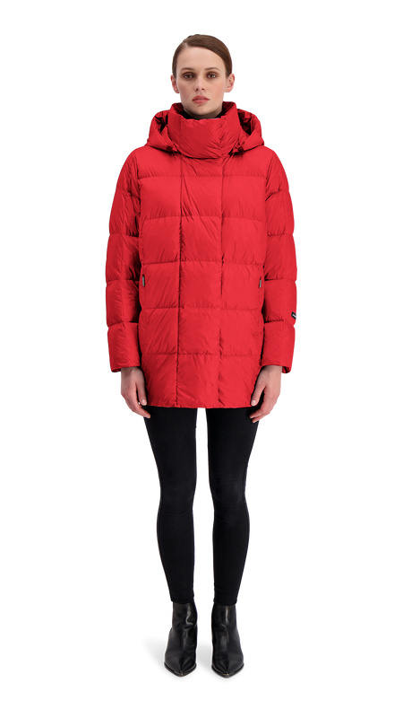 ALMA LIGHT DOWN COAT - Joutsen - Jester Red