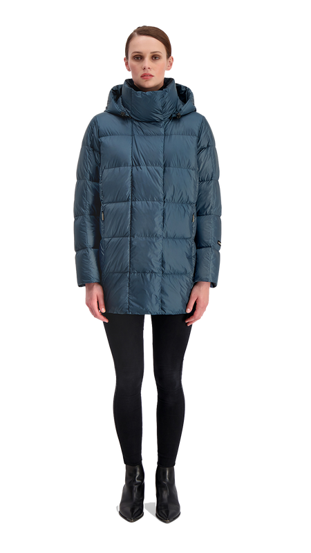 ALMA LIGHT DOWN COAT - Joutsen - Moonlight ocean