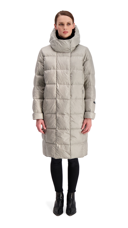 ESSI LIGHT DOWN COAT - Joutsen - silver grey