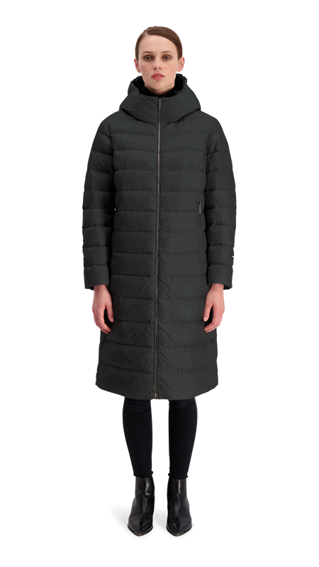 HANNE LIGHT DOWN COAT - Joutsen - black