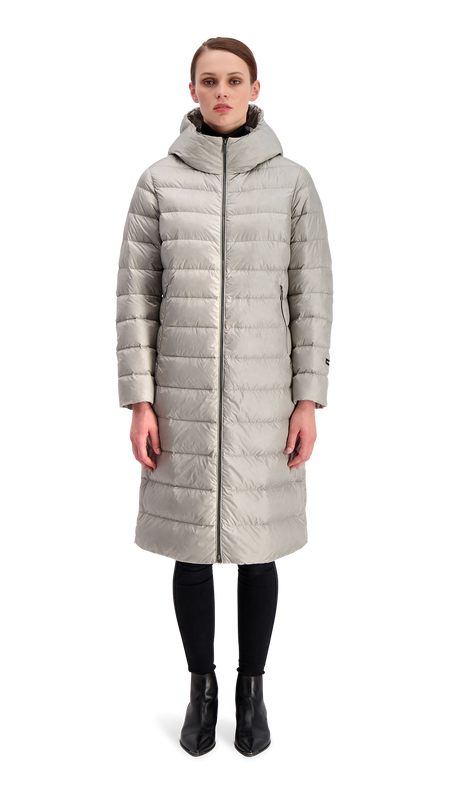 HANNE LIGHT DOWN COAT - Joutsen - silver grey
