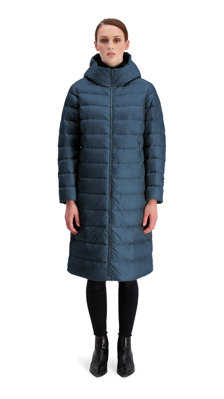HANNE LIGHT DOWN COAT - Joutsen - Moonlight Ocean