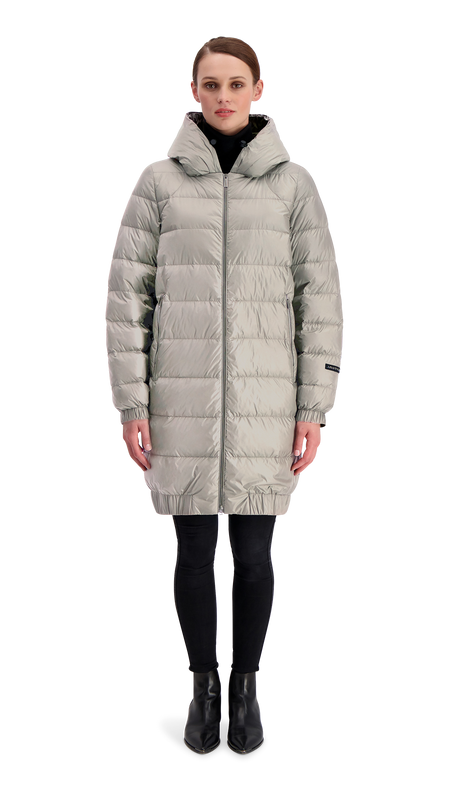 HELY LIGHT DOWN COAT - Joutsen - silver grey