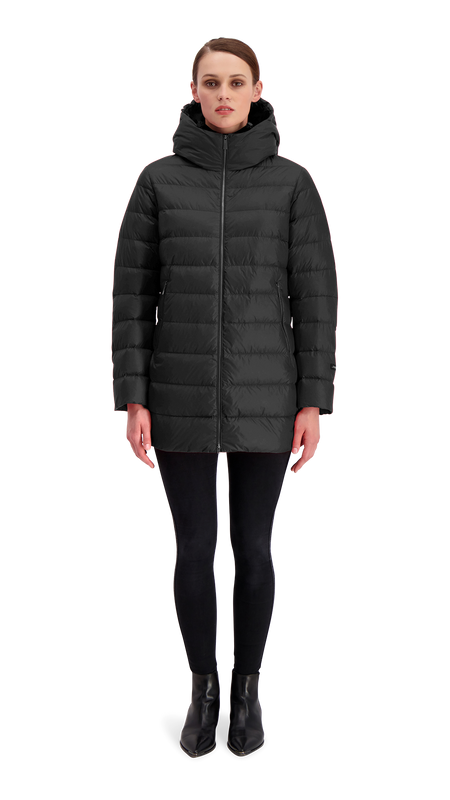 RUUT LIGHT DOWN COAT - Joutsen - black