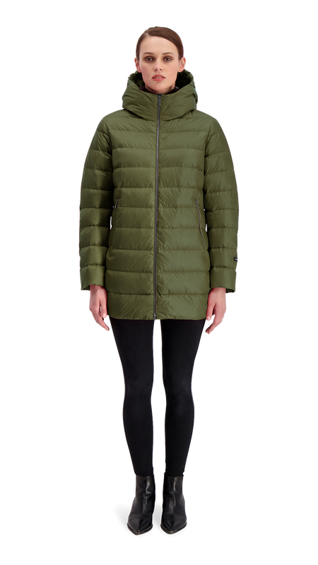 RUUT LIGHT DOWN COAT - Joutsen - forest night