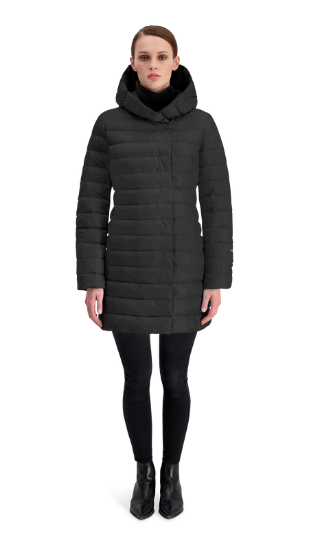 VAULA LIGHT DOWN COAT - Joutsen - black