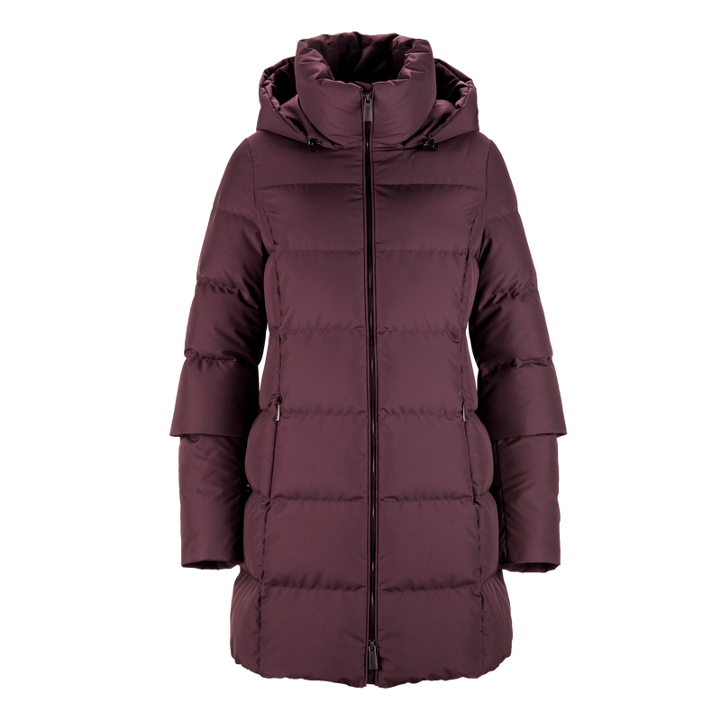LAINE DOWN COAT - Joutsen - Ruby wine