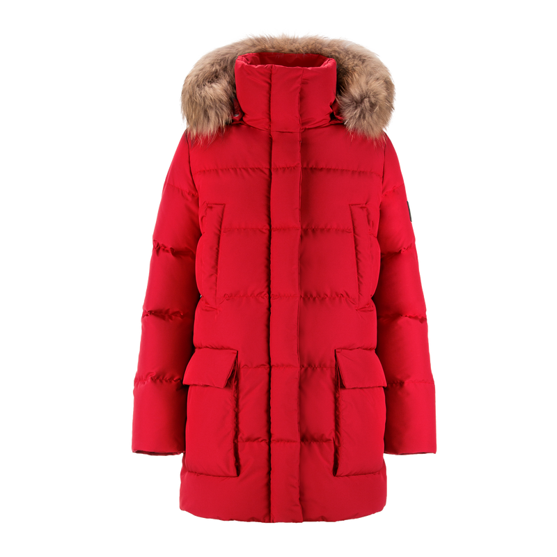 TARU FUR DOWN COAT - Joutsen - red