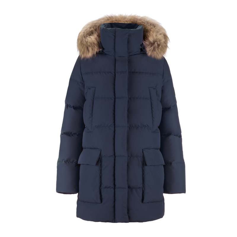 TARU FUR DOWN COAT - Joutsen - blue