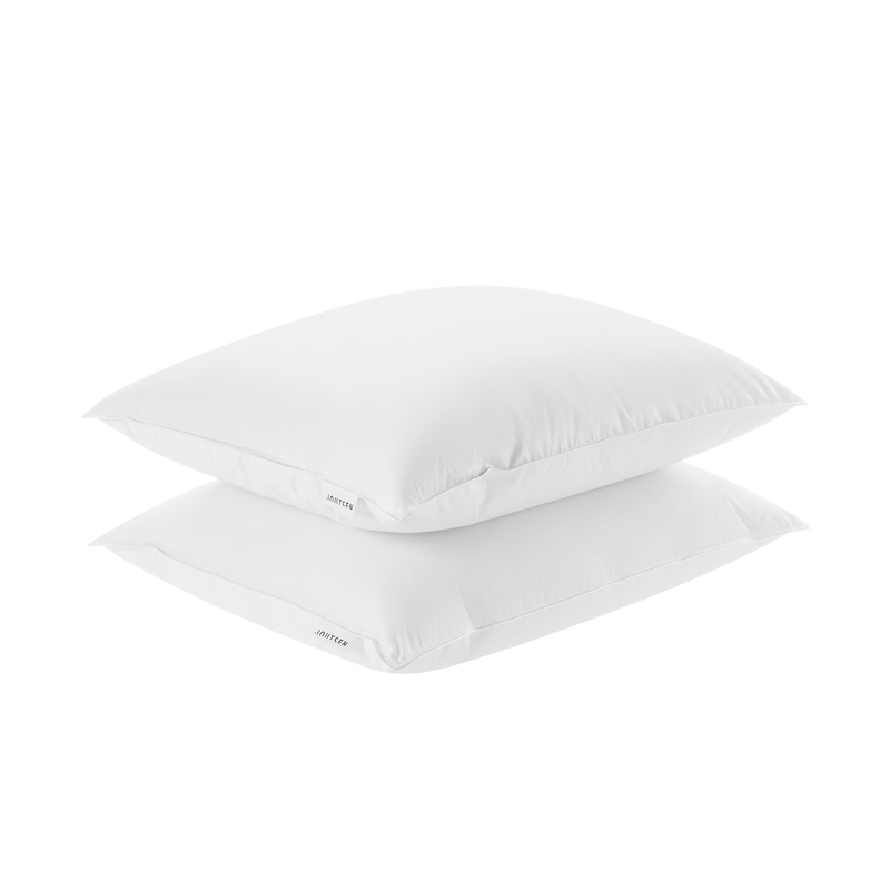 Syli down pillow set - 2 x soft and low - Joutsen - white