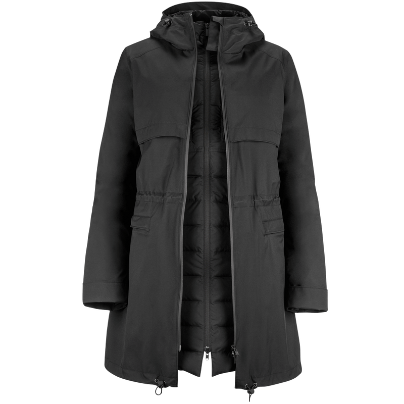 JADET RAINCOAT/DOWN COAT - Joutsen - black