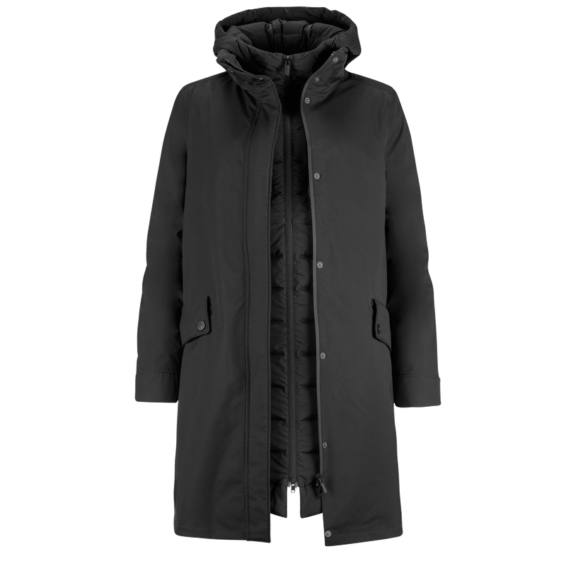 JULIET RAINCOAT/DOWN COAT - Joutsen - black