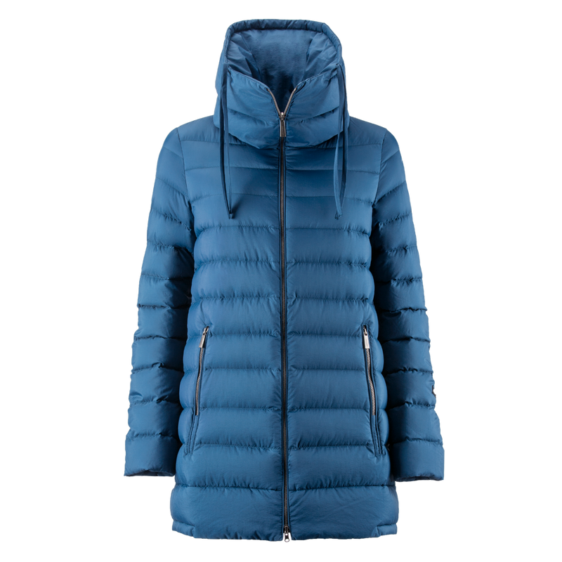 MINEA LIGHT DOWN COAT - Joutsen - blue ashes