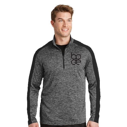 Sport-Tek® Men's PosiCharge® Electric Heather Colorblock 1/4-Zip Pullover