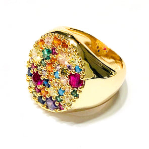 Pinky Rainbow Ring Gold Plated