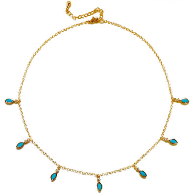 Turquoise Dangling Necklace