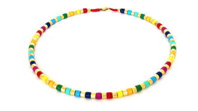 Indian Summer Color Block Necklace