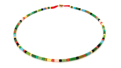 Fall Leaves Color Block Necklace