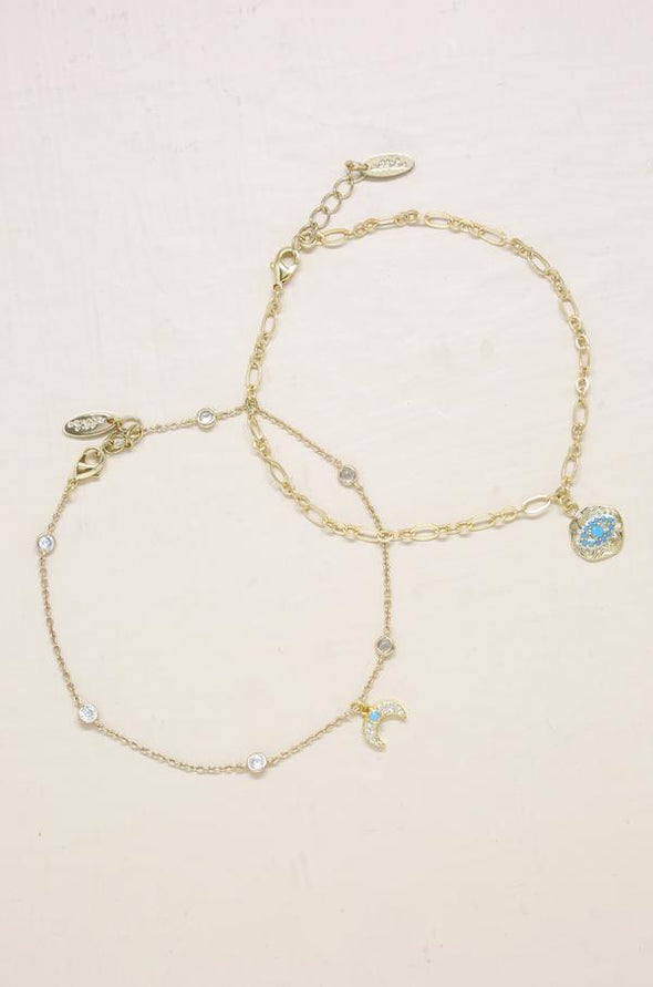 Third Eye Crystal Charm Anklet
