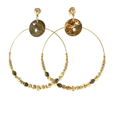 Manon Grande Gold Earrings