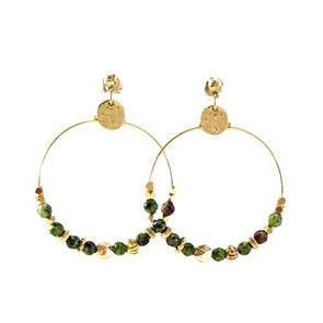 Anemone Green Earrings