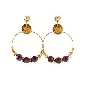 Jess Amethiste Earrings