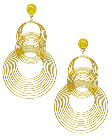 Art Deco Earring In Gold