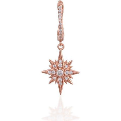 Single Starburst Earring 925