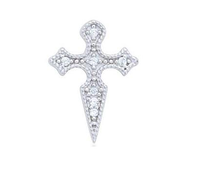 Single Cross Studs 925 Strl Slv