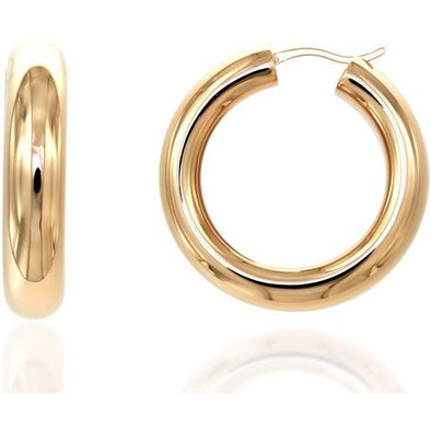 Bella 6Mm 925 Strl Slvr Hoops 3Cm 5,8Gr Gold Pl