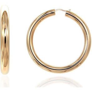 Bella 6Mm 925 Strl Slvr Hoops 5Cm 10,60Gr Gold Pl