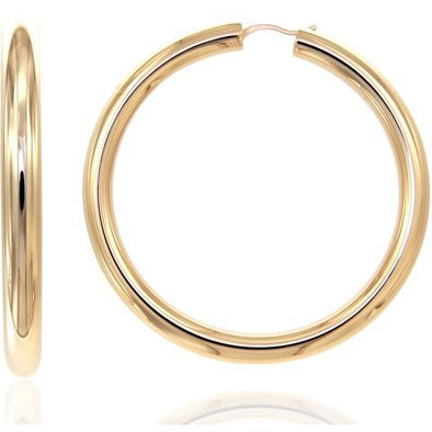 Bella 6Mm 925 Strl Slvr Hoops 6Cm 12,10Gr Gold Pl