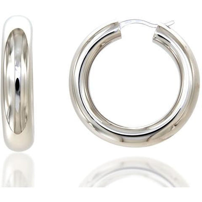 Bella 6Mm 925 Strl Slvr Hoops 3Cm 5,8Gr