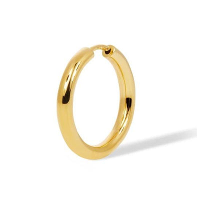 Simple 15Mm Mini Hoop 925 Strl Slvr 1,4 Gr Gold P
