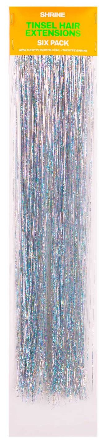 Tinsel Hair Extensions - Pack Of 6