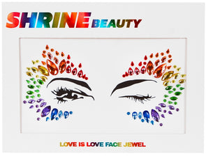 Love Is Love Pride Face Jewel