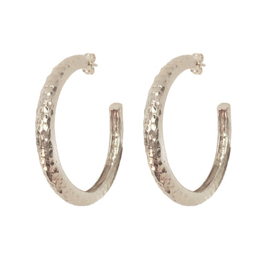 Bombay Hoops Silver Rhodium