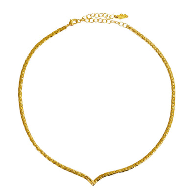 Necklace Seventies Gold Plated 39cm/47cm